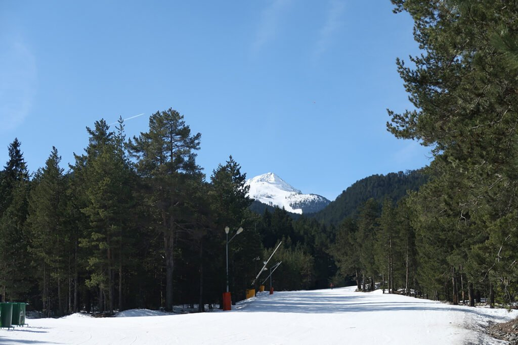 Ski Slopes and forest in Bankso Bulgaria