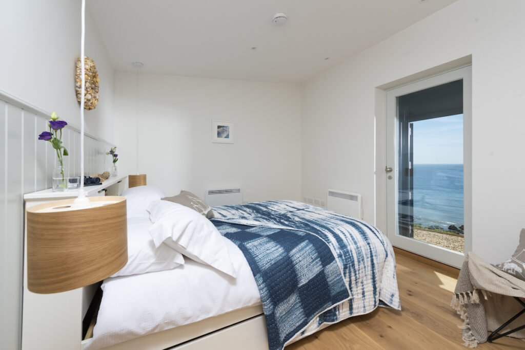 Bedroom with views out to sea