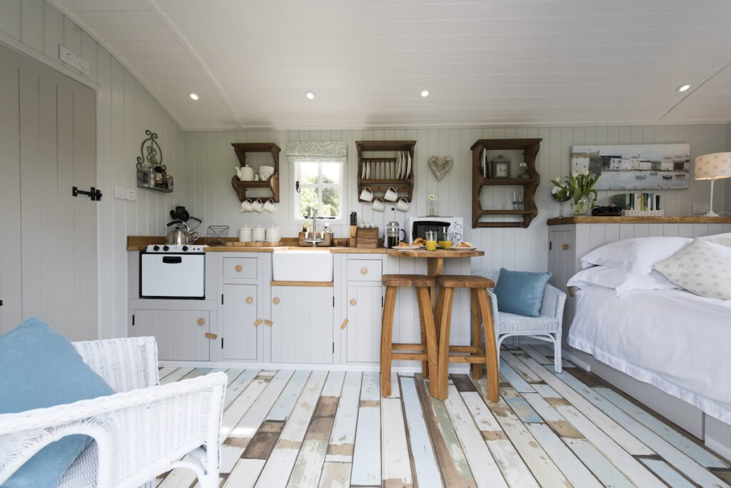 Living area in Shepherd's Hut