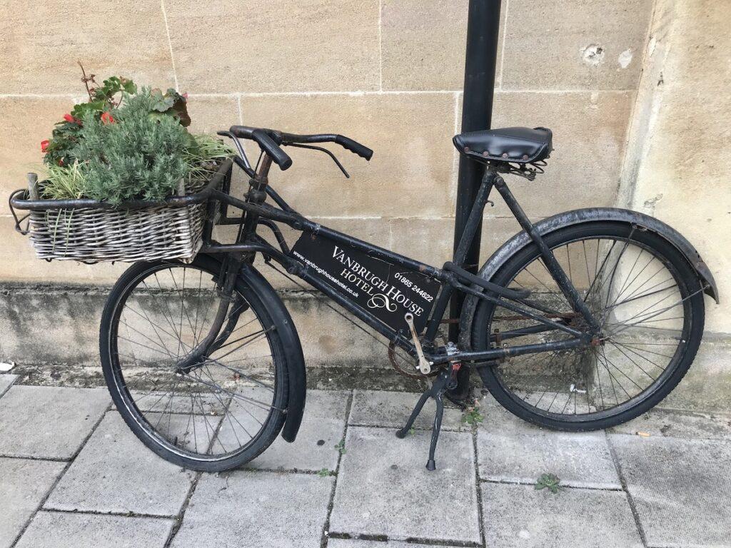 Bike outside the hotel