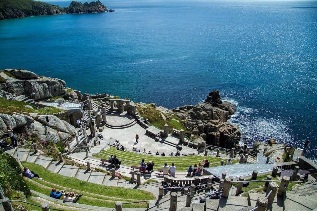Ampitheatre in Cornwall on the clifftop