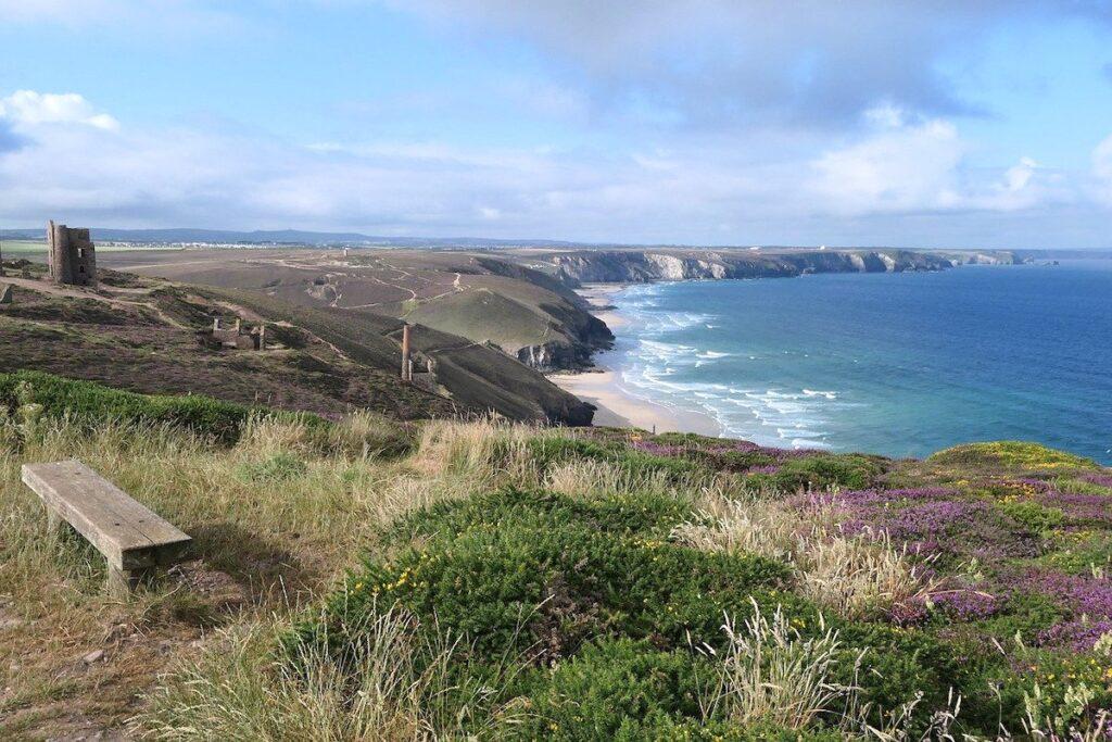 Cornwall's coast with views of Wheal Coates tin mine ruins and the sea